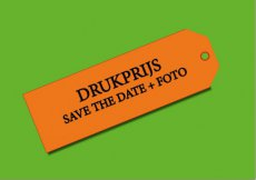 Drukprijs save the date + foto