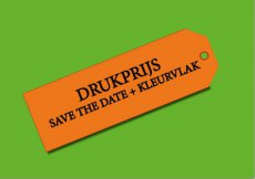 Drukprijs save the date + kleurvlak